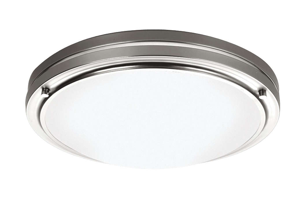 West End 2-light Ceiling in Satin Nickel finish