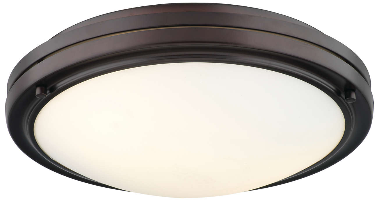 West End 2-light Ceiling in Merlot Bronze finish