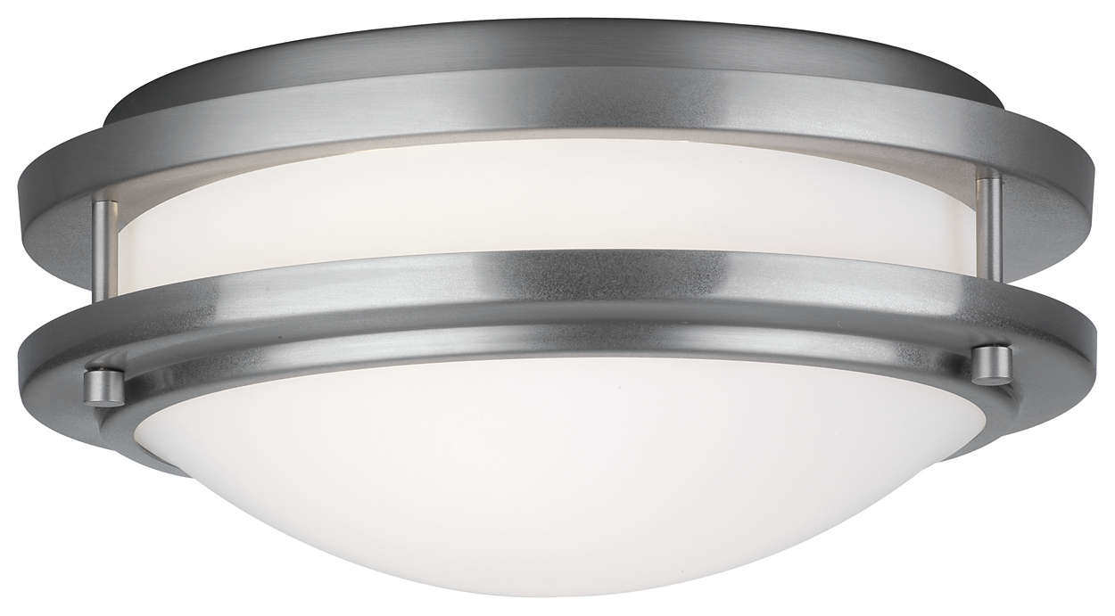 Cambridge 1-light Ceiling in Satin Nickel finish