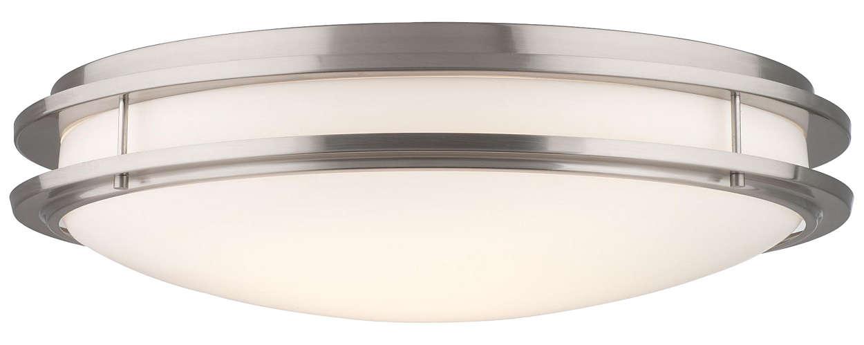 Cambridge 2-light Ceiling in Satin Nickel finish