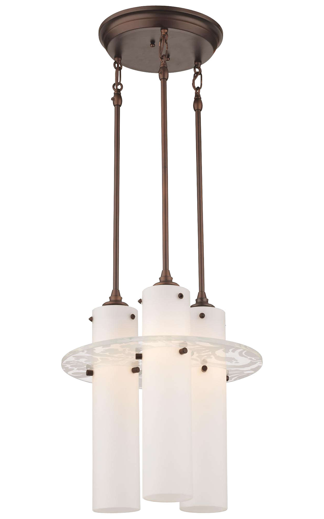 Dana 3-light Pendant in Merlot Bronze finish