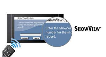 ShowView για γρήγορο και εύκολο προγραμματισμό