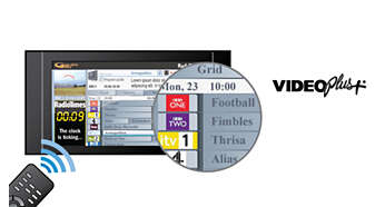 VIDEO Plus+ για γρήγορο και εύκολο προγραμματισμό