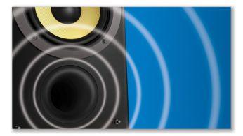 Zemās frekvences skaņu atstarojoša skaļruņu sistēma nodrošina jaudīgu un dziļāku zemās frekvences skaņu