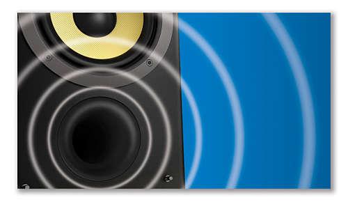 Het Bass Reflex-luidsprekersysteem biedt een diep en krachtig basgeluid