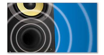 El sistema de altavoces Bass Reflex ofrece un sonido potente y más profundo