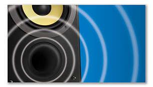 Bass Reflex Speaker System delivers a powerful, deeper bass