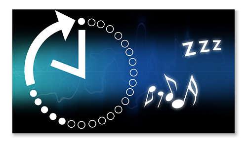 Sleeptimer zodat u gemakkelijk in slaap valt op uw favoriete muziek