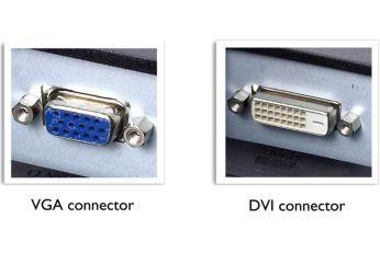 Dual input accepts both analog VGA and digital DVI signals