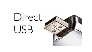 Direct USB for easy file transfers—without cables