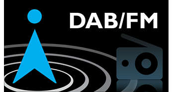 DAB and FM compatible for a complete radio experience