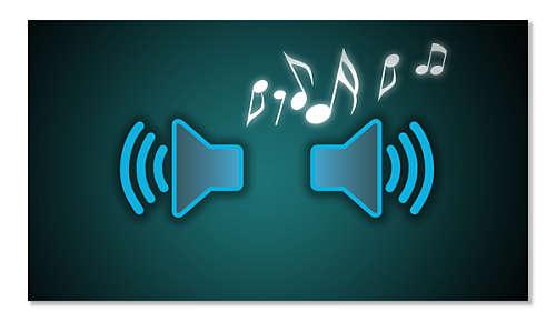 Ingebouwde luidspreker om hardop radio te luisteren in een in goede geluidskwaliteit