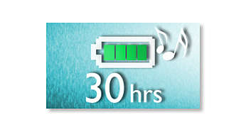 30 hours of MP3-CD music playback