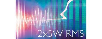 Celkový výstupní výkon 10W RMS