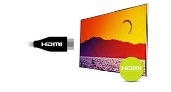 HDMI-inngang for heldigital HD-tilkobling i én kabel