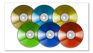 DVD, (S)VCD, MP3-CD, WMA-CD, CD(RW) 및 Picture CD 재생