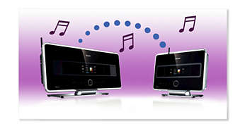 Streaming sem fios entre o Music Center e a(s) Station(s)