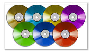 Play DVD, DivX®, (S)VCD, MP3-CD, WMA-CD, CD(RW) and Picture CD