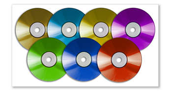 Spela upp DVD, DivX®, (S)VCD, MP3-CD, WMA-CD, CD(RW) och Picture CD