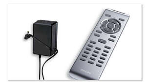 Car adapter and handy remote control included
