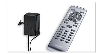 Car adaptor and handy remote control included