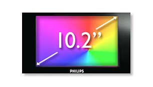 "High-resolution 10.2"" TFT LCD display for great viewing"