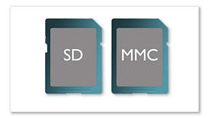 SD/MMC card slot for added multimedia support