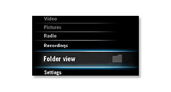 Folder view helps you to find songs easily and quickly