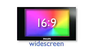 Enjoy movies in 16:9 widescreen format