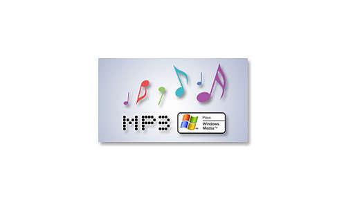 MP3/WMA-CD, CD en CD-RW afspelen