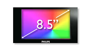 "21.6 cm (8.5"") TFT colour LCD display for high-quality viewing"