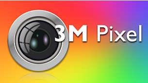 Tire fotos em condições de pouca luz com a câmera de 3 megapixels com flash