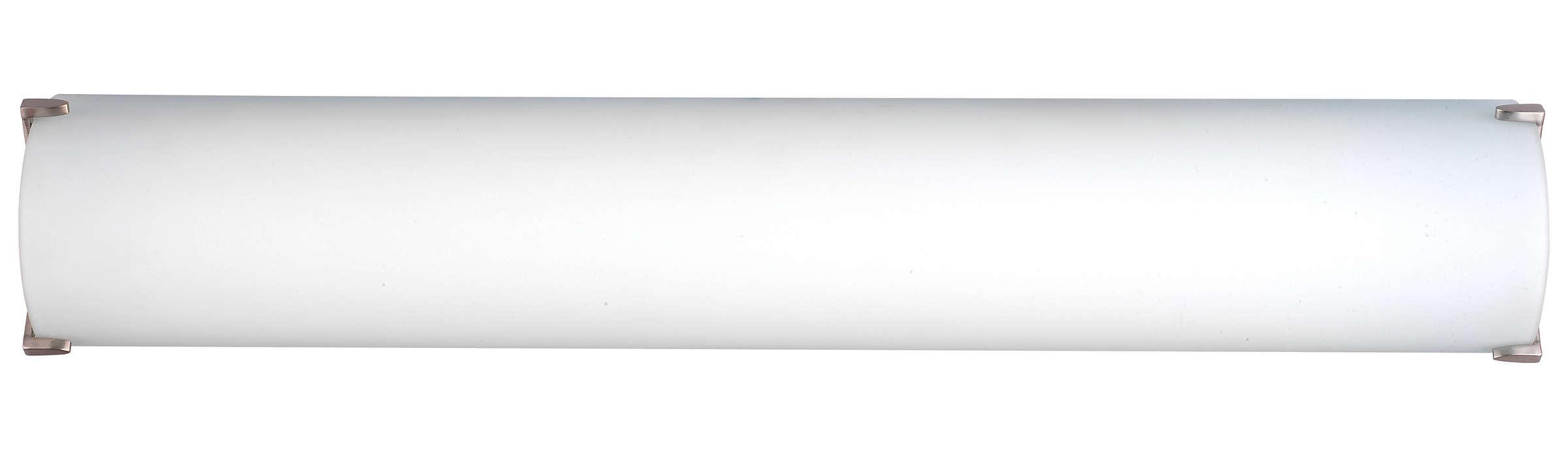 Edge 2-light Bath in Satin Nickel finish