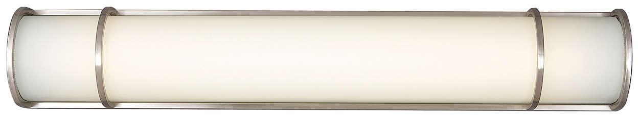 Palette 2-light Bath in Satin Nickel finish