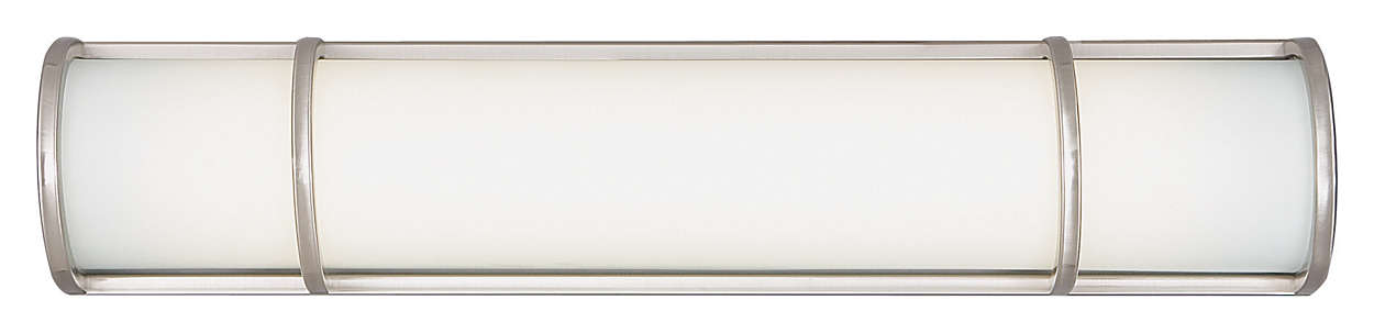 Palette 2-light Bath in Satin Nickel finish