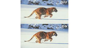 Ekran Clear LCD 100Hz zapewniający niezwykłą ostrość ruchomego obrazu (3ms)