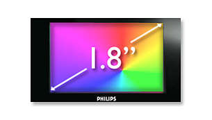 "1.8"" LCD colour display for easy navigation and photo viewing"