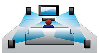 5.1-kanálový zvukový výstup pre priestorový zvuk