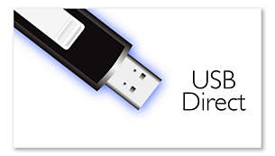 USB Direct for music and photo playback