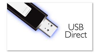Připojení USB Direct pro přehrávání hudby aprohlížení fotografií