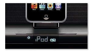 Używaj i ładuj odtwarzacz iPod lub GoGear