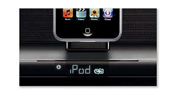 Play and charge your iPod and GoGear
