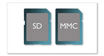 SD/MMC card slot for movies and photos viewing