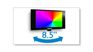 "8.5"" swivel colour LCD panel for improved viewing flexibility"
