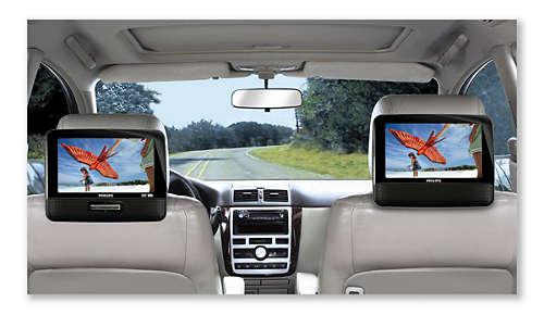 Geniet optimaal van films met twee TFT LCD-schermen