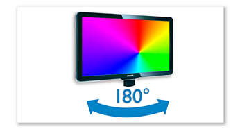 180-degree swivel screen for improved viewing flexibility