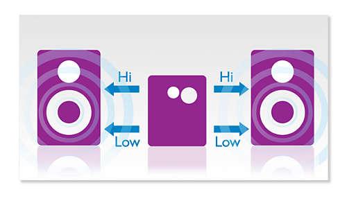 Dubbele versterker voor betere geluidsprestaties