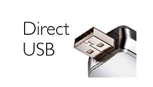 Прямой USB – не нужно кабелей