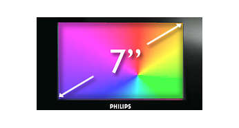 "7"" color display for easy viewing of clock, radio & calendar"
