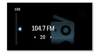 More music with Digital FM radio with 20 stations preset